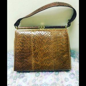 Vintage 1940s snakeskin purse